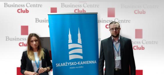 przedstawiciele Skarżyska w trakcie prezentacji dla BCC